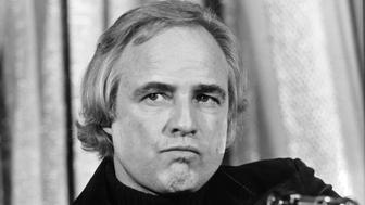 NEW YORK, NY – NOV 26: Marlon Brando attends the First Gala Benefiting the American Indian Development Association at the Waldorf Astoria Hotel on November 26, 1974 in New York City. (Photo by PL Gould/IMAGES/Getty Images)