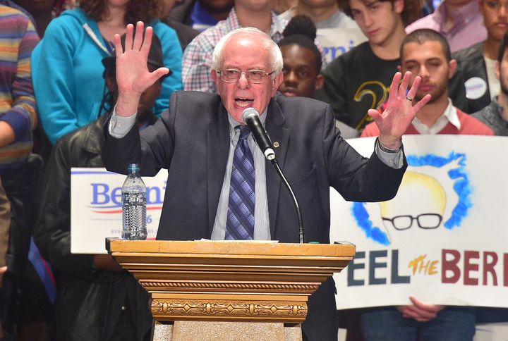 """Democratic presidential candidate Bernie Sanders (I-Vt.). The Working Families Partysaid Tuesday that it is """"standing w"""