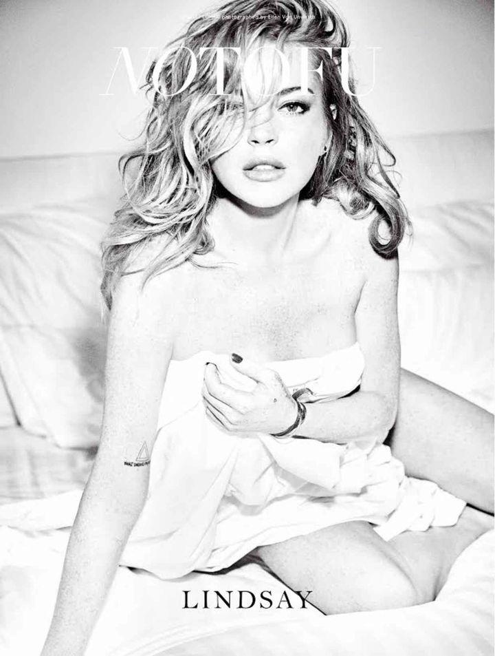 Lindsay Lohan Poses Nude 64
