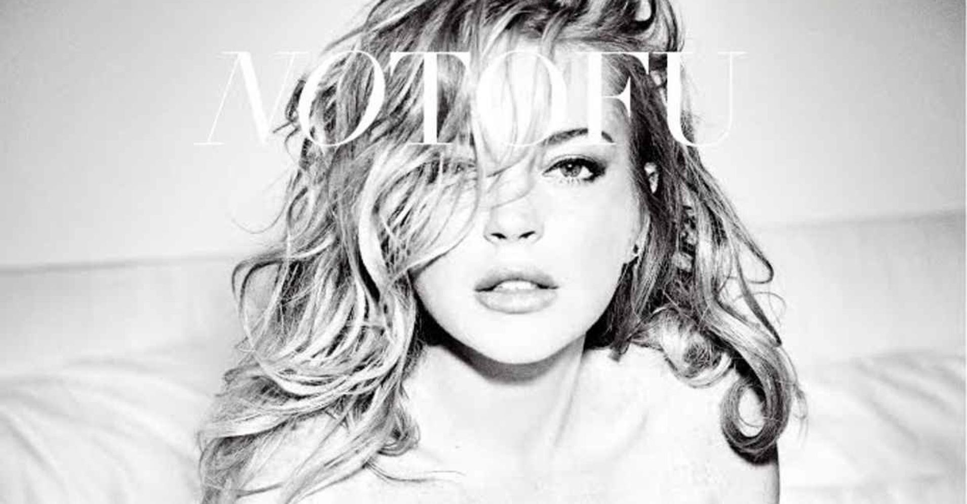Lindsay Lohan Poses Nude In Bed For No Tofu Magazine Cover ...