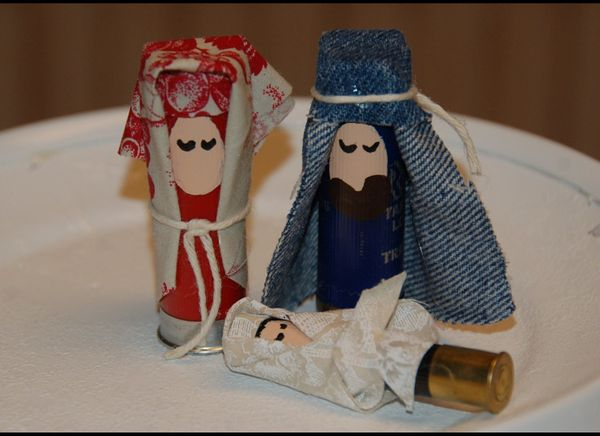 "If there is a person in your life whose favorite religious ditty is ""Praise The Lord And Pass The Ammunition,"" this Nativity"