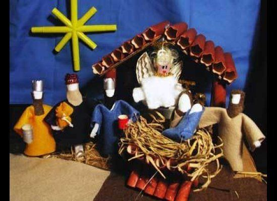 Oestreicher initially worried about including this Nativity scene that uses tampons, but decided to go ahead since it comes f