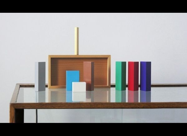 This Nativity scene, using only color blocks, is Oestreicher's current favorite, as it shows that the Nativity is so iconic t