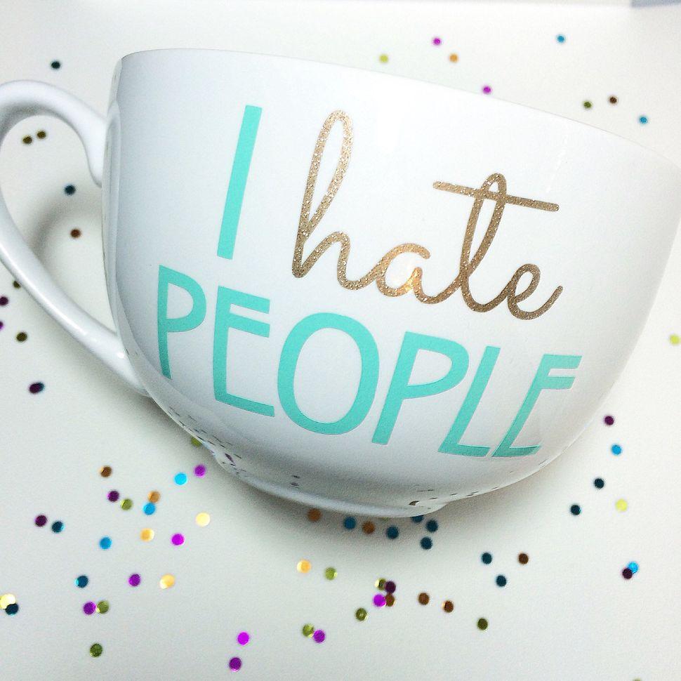 "<a href=""https://www.etsy.com/listing/216116532/i-hate-people-mug"">I Hate People Mug, $15</a>"