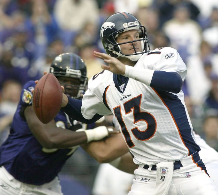 ESPN analyst Danny Kanell when he was a quarterback for the NFL's Denver Broncos in 2003.