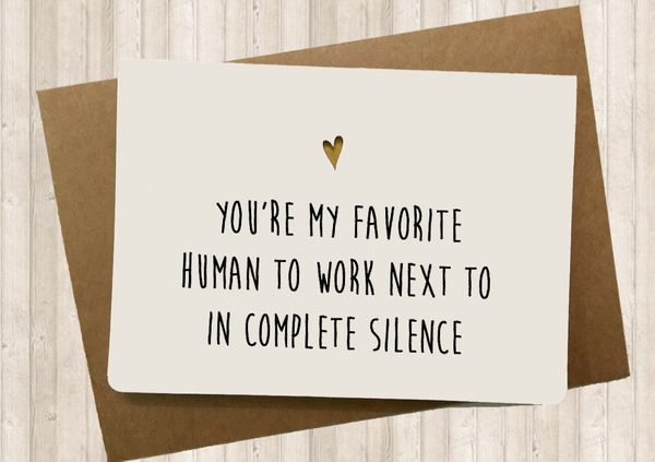 "Sarcastic Coworker Card, $5,&nbsp;<a href=""https://www.etsy.com/listing/244812204/funny-card-for-your-co-worker-sarcastic"" ta"