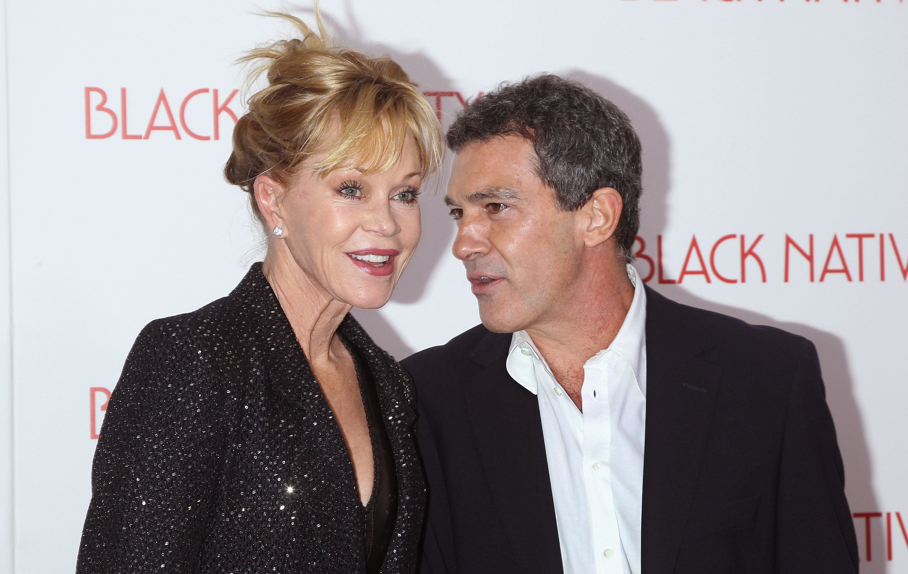 NEW YORK, NY - NOVEMBER 18:  Actors Melanie Griffith and Antonio Banderas attend the 'Black Nativity' premiere at The Apollo Theater on November 18, 2013 in New York City.  (Photo by Jim Spellman/WireImage)