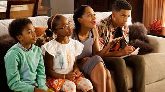 BLACK-ISH - 'Daddy's Day' - After another lackluster Father's Day overshadowed by graduation parties and summer vacations, Dre and his colleagues decide to come up with a holiday initiative entitled 'Daddy's Day,' celebrating everything that Father's Day is not. When Dre meets Resheida, a friend of Zoey's who doesn't have a Dad, they develop a bond after he is snubbed by Zoey and she backs him up on the fact that Dads should be respected and heralded. Meanwhile, Junior decides to help Bow around the house but ends up becoming more of a hassle than a help, on 'black-ish,' WEDNESDAY, OCTOBER 14 (9:31-10:00 p.m., ET) on the ABC Television Network. (Photo by Kelsey McNeal/ABC via Getty Images)