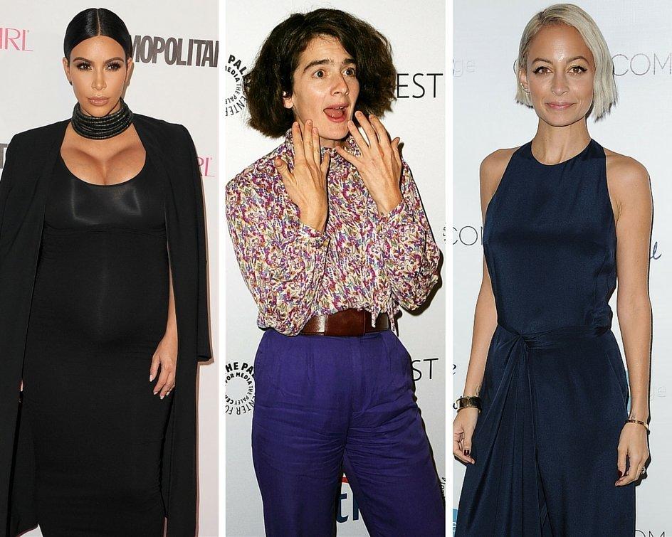 Kim Kardashian, Gaby Hoffmann and Nicole Richie.