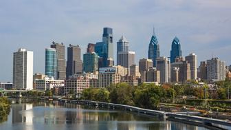 USA, Pennsylvania, Philadelphia City, View of city and river. (Photo by: JTB/UIG via Getty Images)