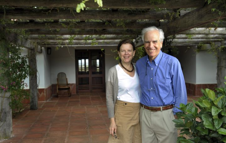 Tompkins and his wife, Kristine, in 2009. He had been living in South America since the 1990s when, disillusio