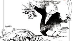 「自由の女神を殺すドナルド・トランプ氏」ニューヨーク紙の痛烈なメッセージとは