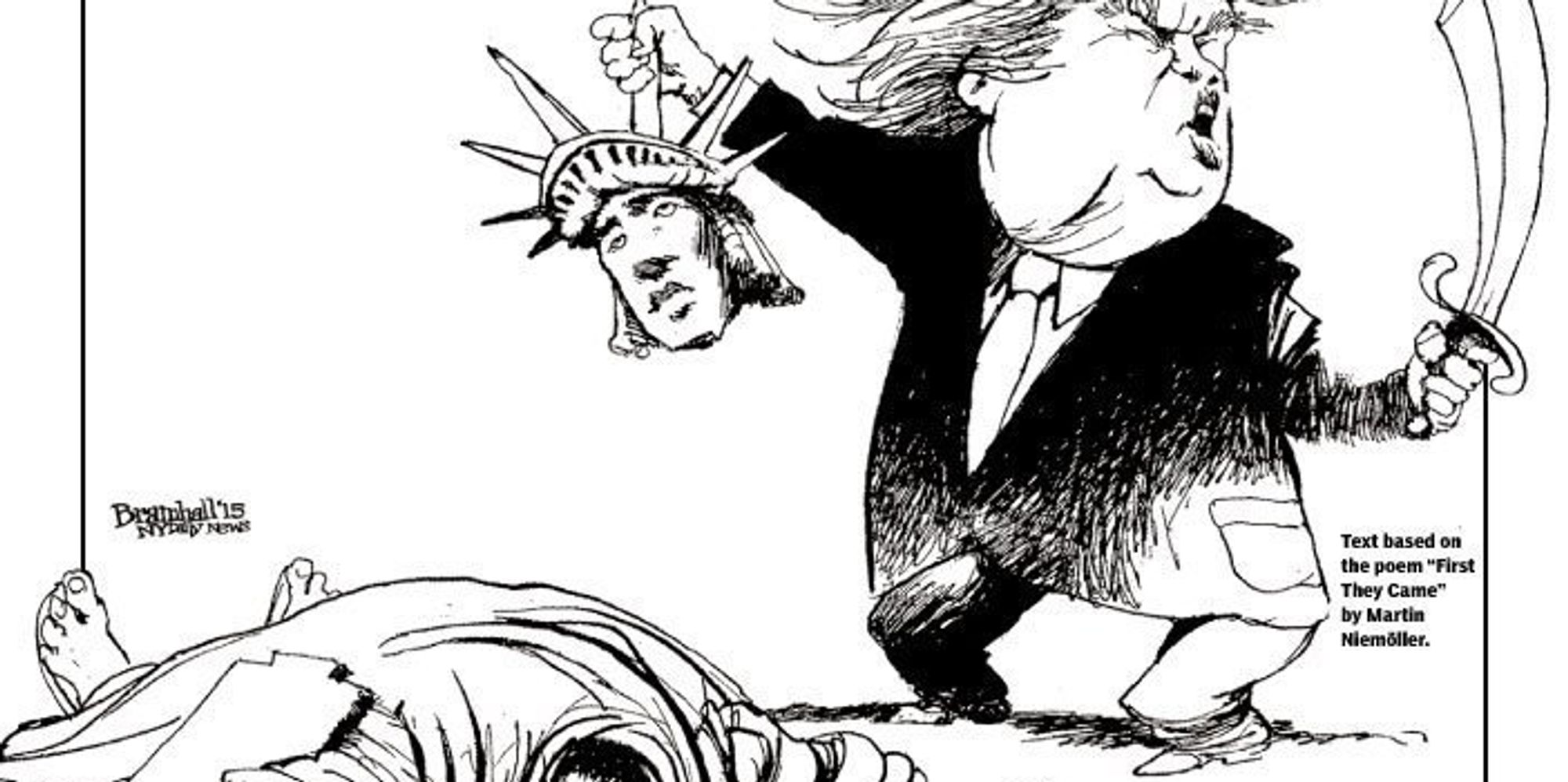NY Daily News Cover Shows Donald Trump Beheading Statue Of