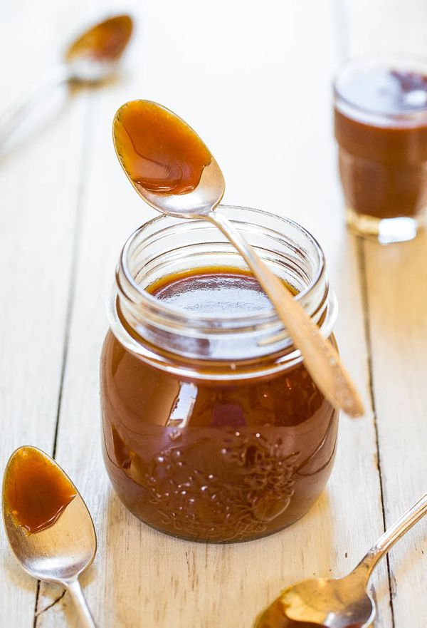 "<strong>Get the <a href=""http://www.averiecooks.com/2014/06/the-best-and-easiest-homemade-salted-caramel-sauce.html"">Easy Sal"