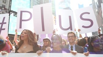 NEW YORK, NY - SEPTEMBER 14:  Television personalities Wendy Williams and Brad Goreski attend the Lane Bryant launch of the #PlusIsEqual campaign at Times Square on September 14, 2015 in New York City.  (Photo by Monica Schipper/Getty Images for Lane Bryant)