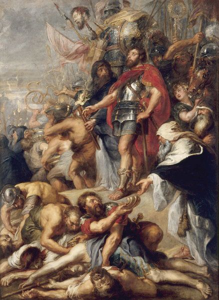 """The Triumph of Judas Maccabeus,"" a 17th century work by Peter Paul Rubens, depicts Judah the Maccabee's victory in battle."