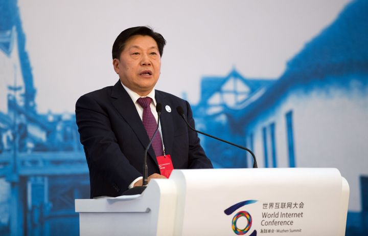 Lu Wei, China's Minister of Cyberspace Affairs Administration, speaks at the opening ceremony of the World Internet Conferenc