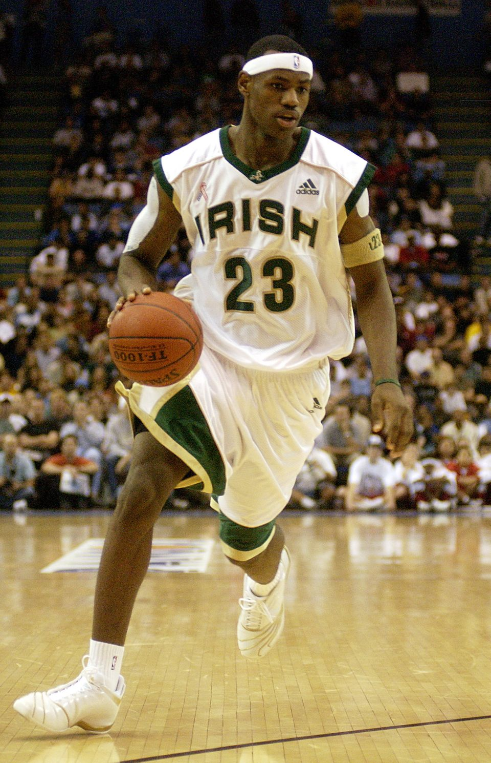 "LeBron James was a high school phenom for St. Vincent-St. Mary and Sports Illustrated listed him as ""The Chosen One"". Ma"