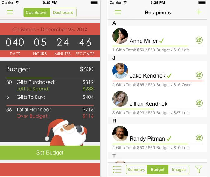 """""""Revolutionize your Christmas shopping experience with Santa's Bag for iOS. <strong>Import recipients, setbudgets, plan"""