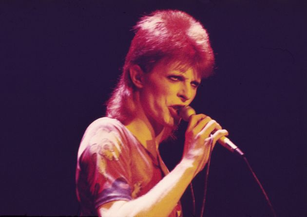 David Bowie performing as Ziggy Stardust in