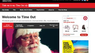 A screen shot of Timeout.com