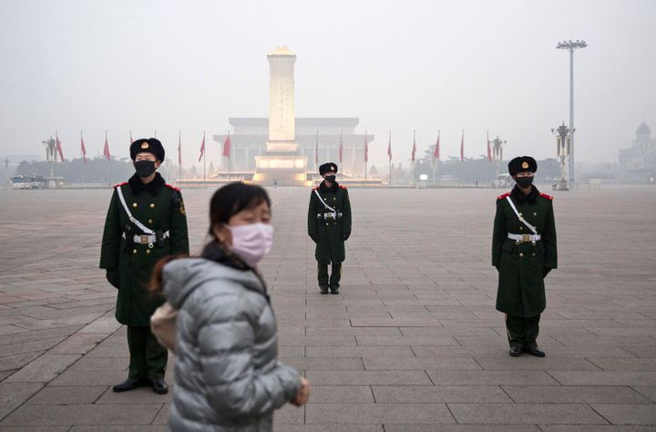 The smog-filled streets of Beijing are reminiscent of Manhattan's skyline 50 years ago.