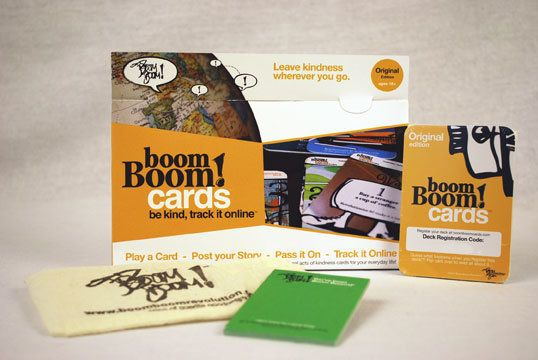 Boom Boom! Cards contain little acts of kindness that people can commit to in their every day lives -- from buying a cup of c