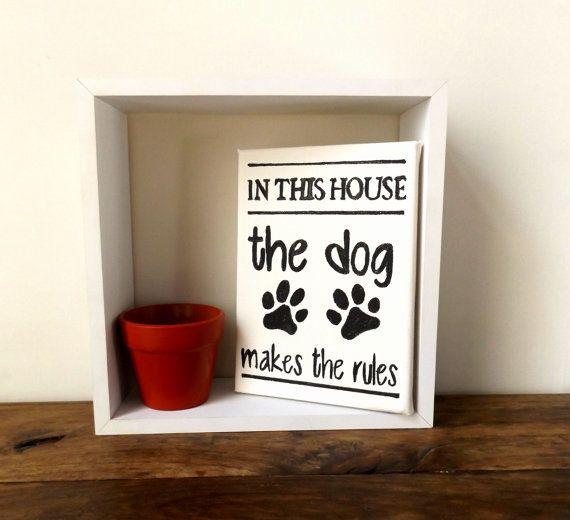 "Dog House&nbsp;Rules canvas wall art, <a href=""https://www.etsy.com/listing/252416099/dog-house-rules-canvas-wall-art-pet-wal"