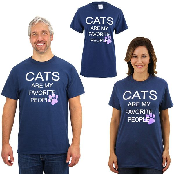 """Cats Are My Favorite People T-shirt, <a href=""""https://theanimalrescuesite.greatergood.com/store/ars/item/61658/cats-are-my-fa"""