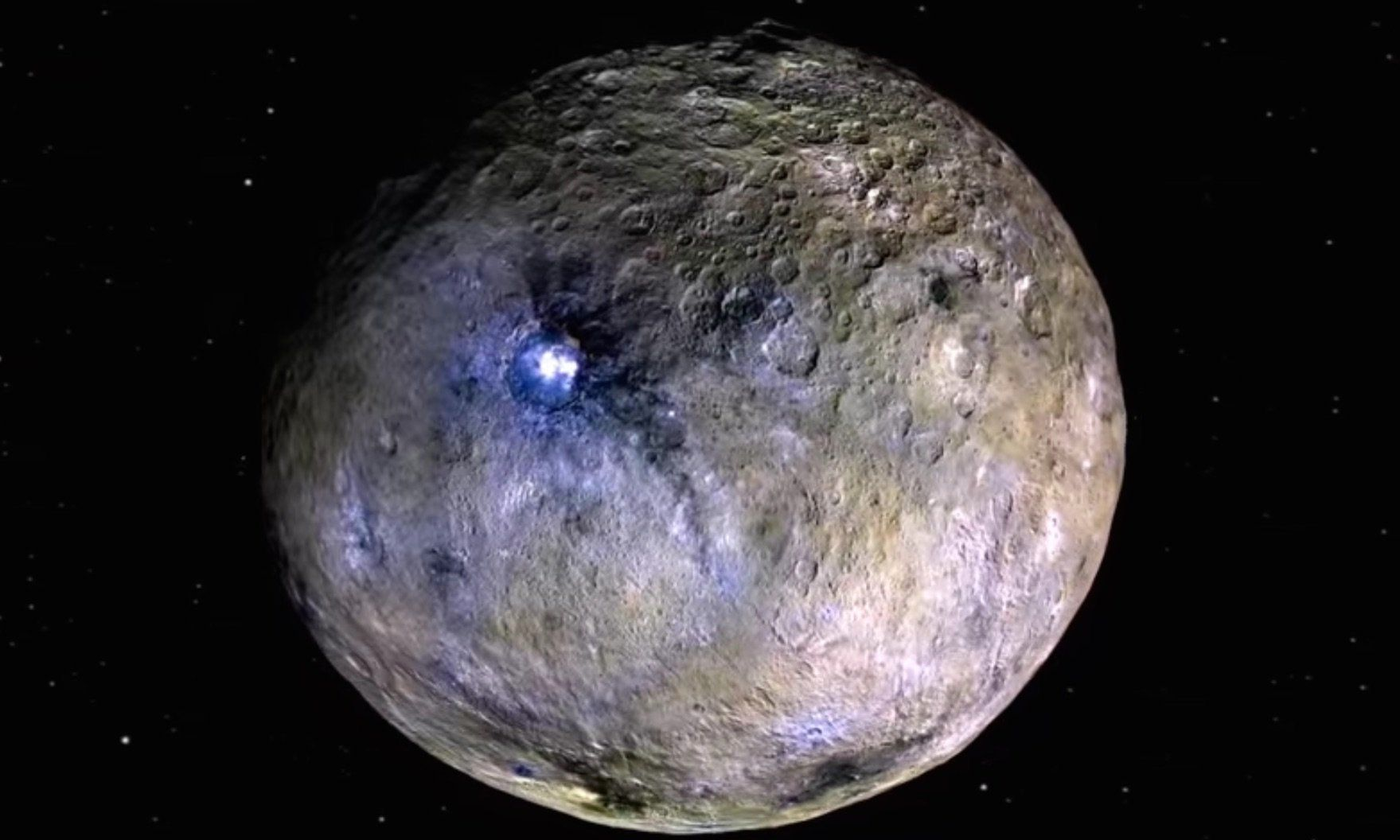The bright spots on Ceres.