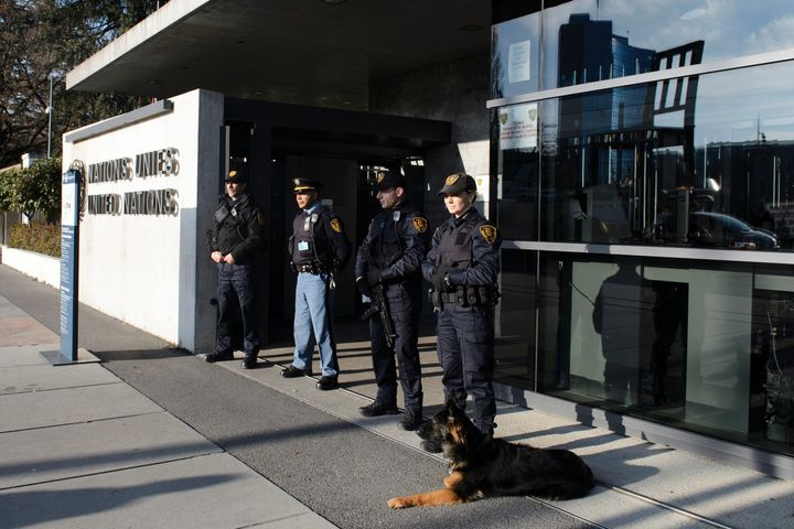 The Swiss city of Geneva raised its alert level and said it was looking for suspects who had possible links to terrorism. The