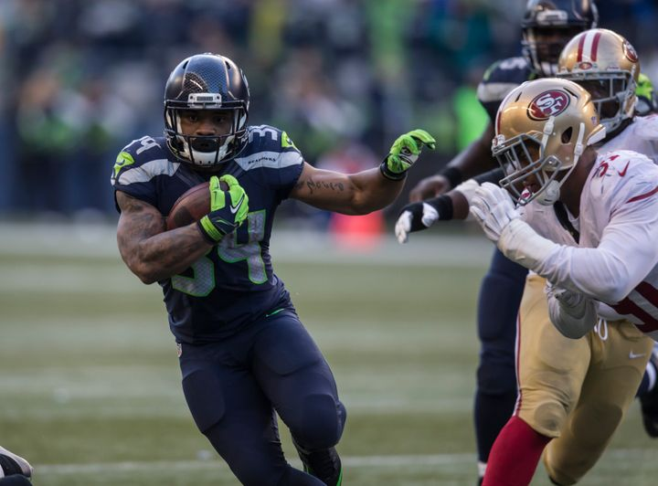 Rawls, an undrafted rookie free agent, has been a revelation while filling in for the injured Marshawn Lynch as running back.