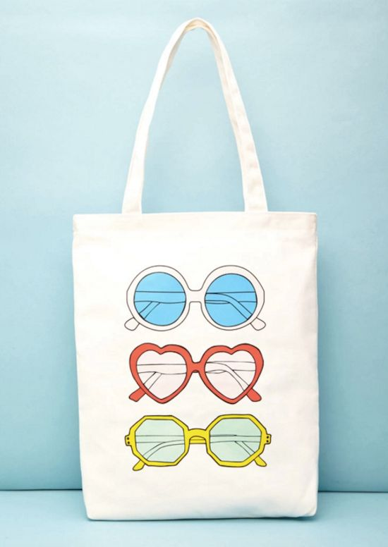 "Sunnies Canvas Tote, $20 at <a href=""http://www.forever21.com/Product/Product.aspx?BR=f21&Category=acc_handbags&Produ"