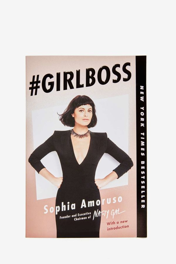"<i>#GIRLBOSS </i>by Sophia Amoruso, $16 at <a href=""http://www.nastygal.com/home-gifts-under-50/girlboss-book--paperbac"