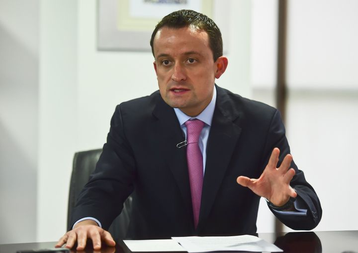 Mexico's National Health commissioner Mikel Arriola speaks during a interview Wednesday in Mexico City about the first-ever vaccine against dengue fever, which will be publicly available for the first time after being cleared for use in Mexico