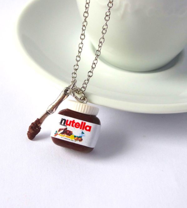 "Nutella Necklace With Knife, $16.86 at <a href=""https://www.etsy.com/listing/236872998/nutella-necklace-with-spoon-or-knife?g"