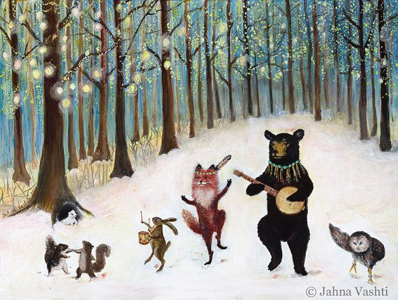 """<a href=""""https://www.etsy.com/listing/87064126/holiday-cards-set-of-12-notecards?ref=market"""">""""Forest Festivities.""""</a>"""
