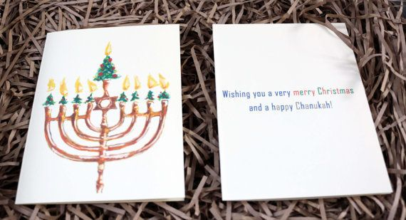 """Wishing you a very merry Christmas and a happy Chanukah!"""