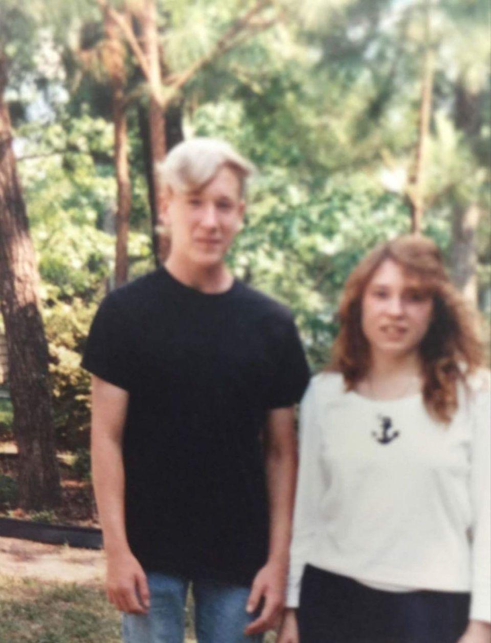 Jason and his sister, Lisa.