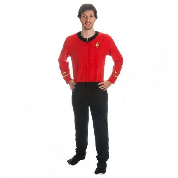 "Star Trek Mens Red Union onesie suit, <a href=""http://shop.startrek.com/star-trek-mens-red-union-onesie-suit/detail.php?p=717"