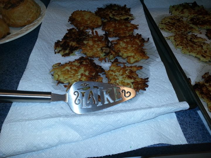 Stacie Garnett-Cook made these Christmas latkes last year.
