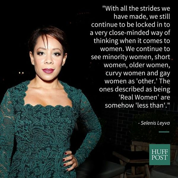 """Orange is the New Black"" star Selenis Leyva opened up about <a href=""https://www.huffpost.com/entry/what-makes-a-real-woman_"