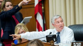 UNITED STATES - SEPTEMBER 30: Chairman Fred Upton, R-Mich., conducts a House Energy and Commerce Committee markup in Rayburn Building, September 30, 2015. Legislation addressed included the 'North American Energy Security and Infrastructure Act of 2015' and the 'Child Nicotine Poisoning Prevention Act of 2015.' (Photo By Tom Williams/CQ Roll Call)