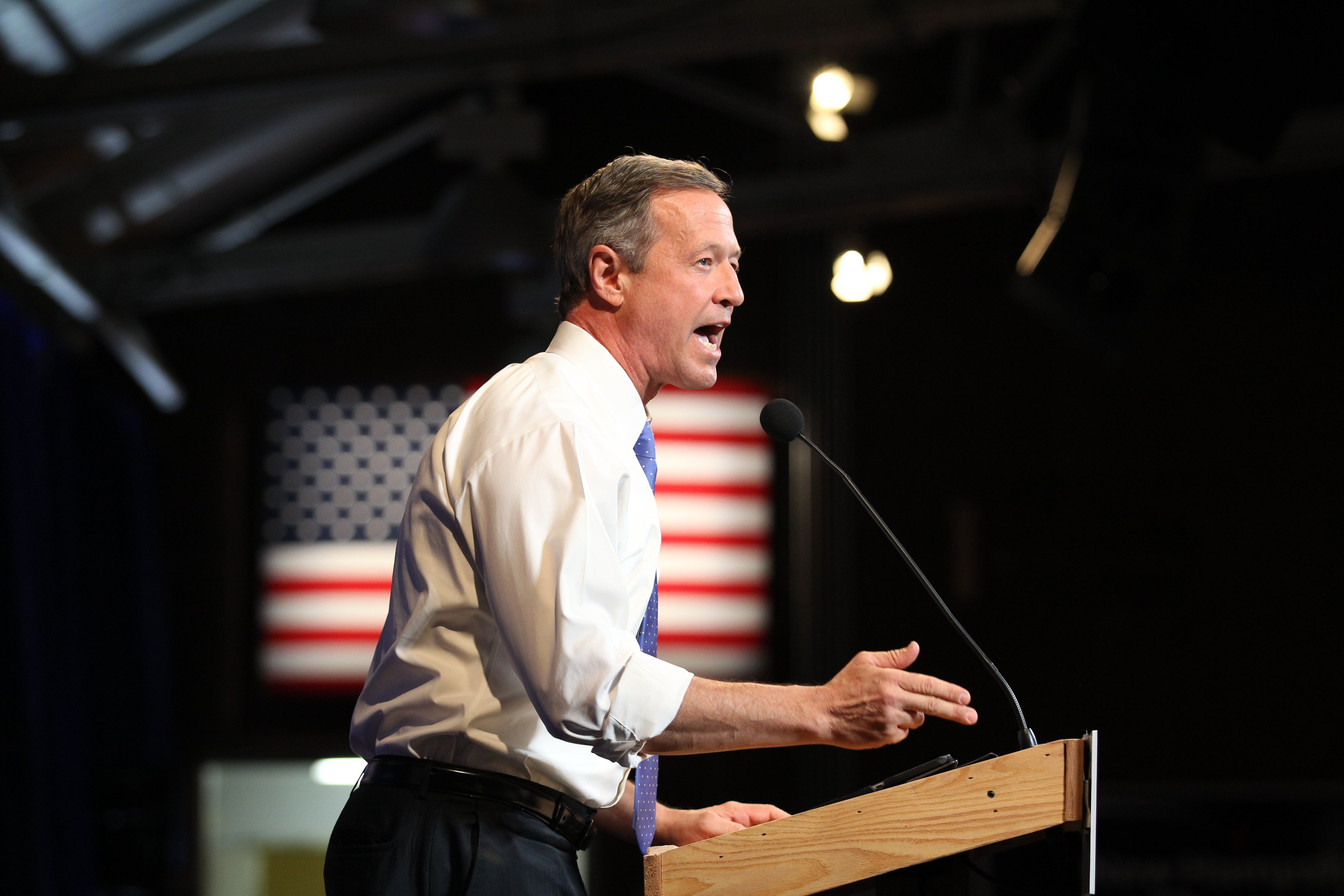 """Former Maryland Gov. Martin O'Malley campaigns in New Hampshire. """"We need to bring an end to the shameful and growing practic"""
