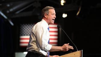 Democratic presidential candidates Martin O'Malley at the NHDP annual Jefferson Jackson dinner in Manchester, N.H., Sunday, Nov. 29, 2015. (AP Photo/Cheryl Senter)