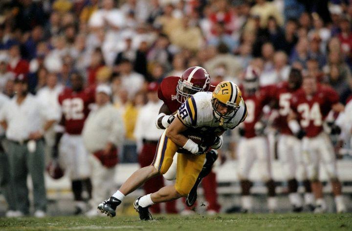 Former LSU wide receiver Abram Booty in a 1998 game against Alabama.