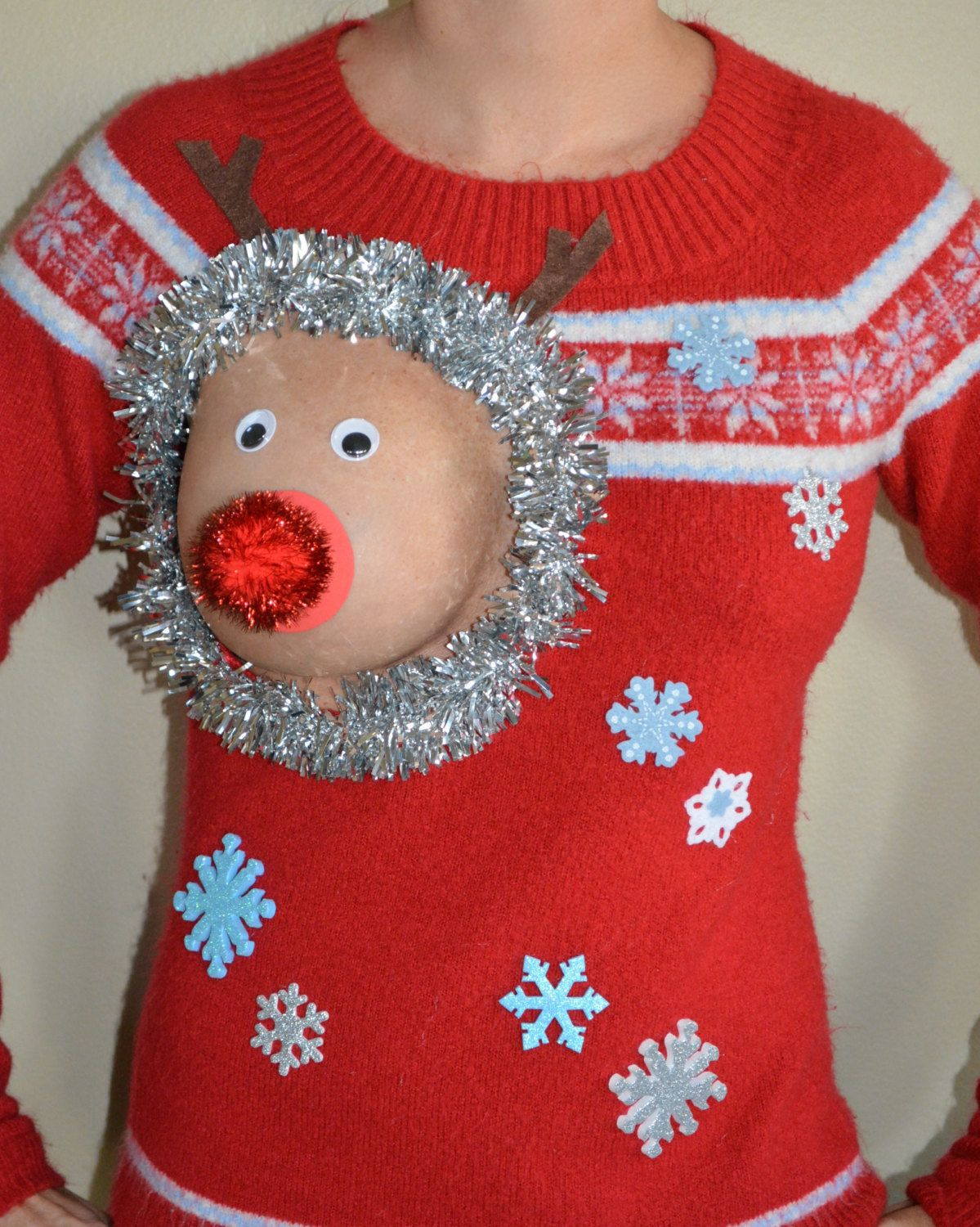 The Perfect Ugly Christmas Sweater For Breastfeeding Moms | HuffPost