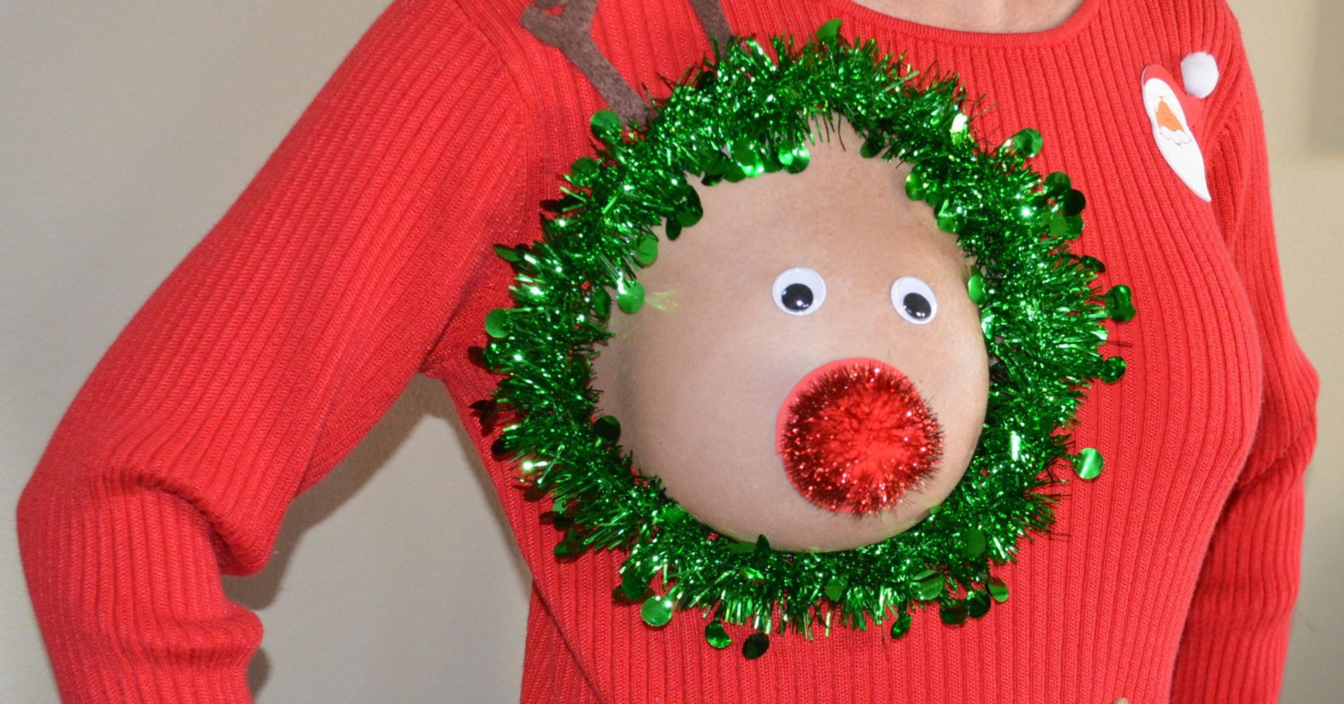 The Perfect Ugly Christmas Sweater For Breastfeeding Moms | HuffPost ...