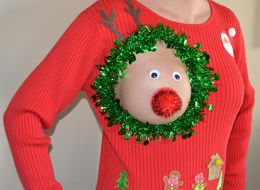 The Perfect Ugly Christmas Sweater For Breastfeeding Moms