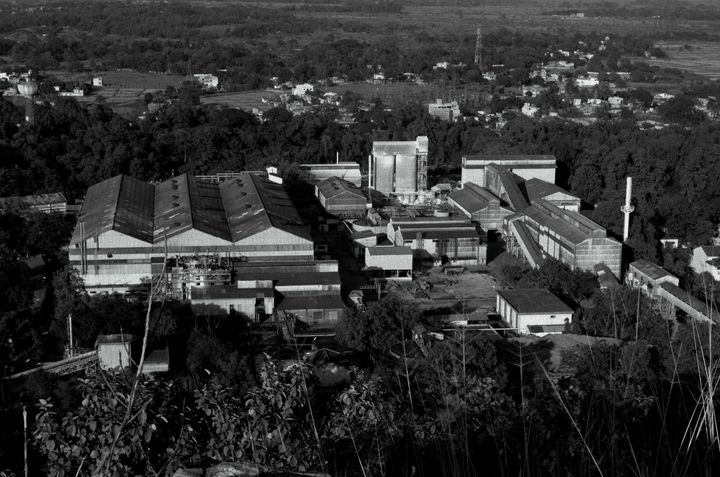 A Uranium Corporation of India Ltd. factory sits on a mountain in Jadugoda, India.